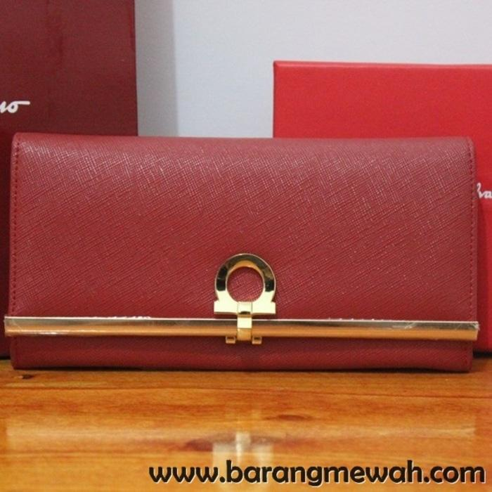 DOMPET SALVATORE FERRAGAMO CONTINENTAL WALLET RED