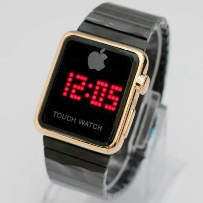 Jam Tangan Cowok / Pria Iphone Watch Touch LED Rantai