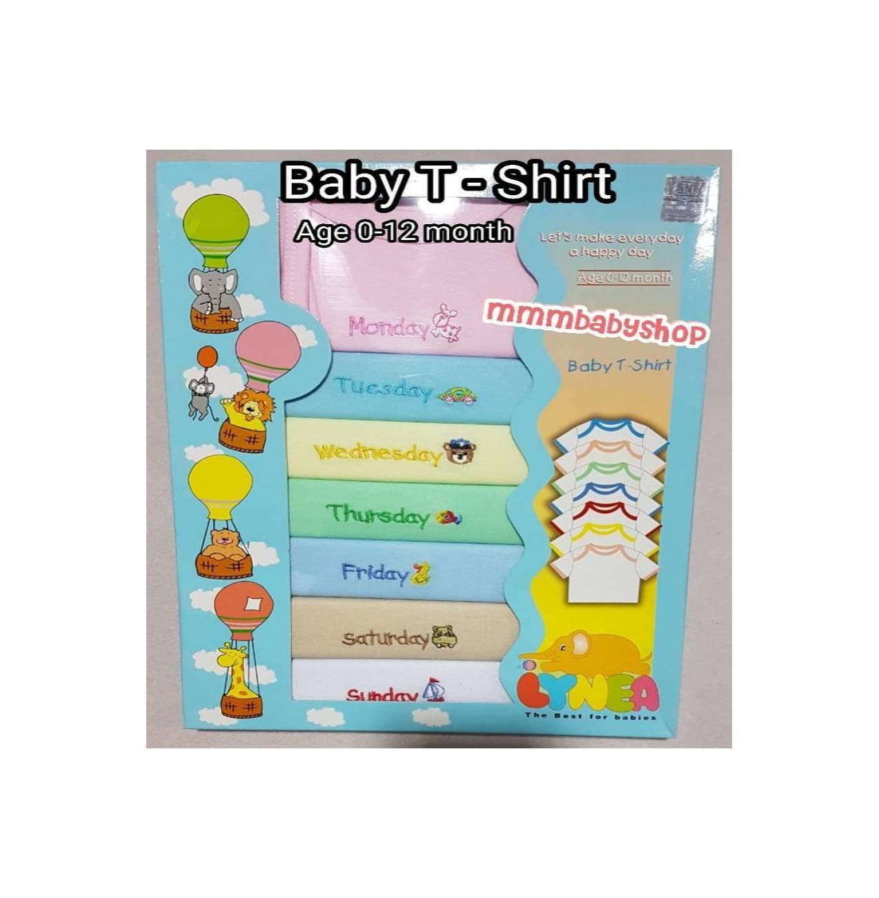 LYNEA Baju Set Bayi Baby T Shirt Kaos Bayi SNI Good Quali T30
