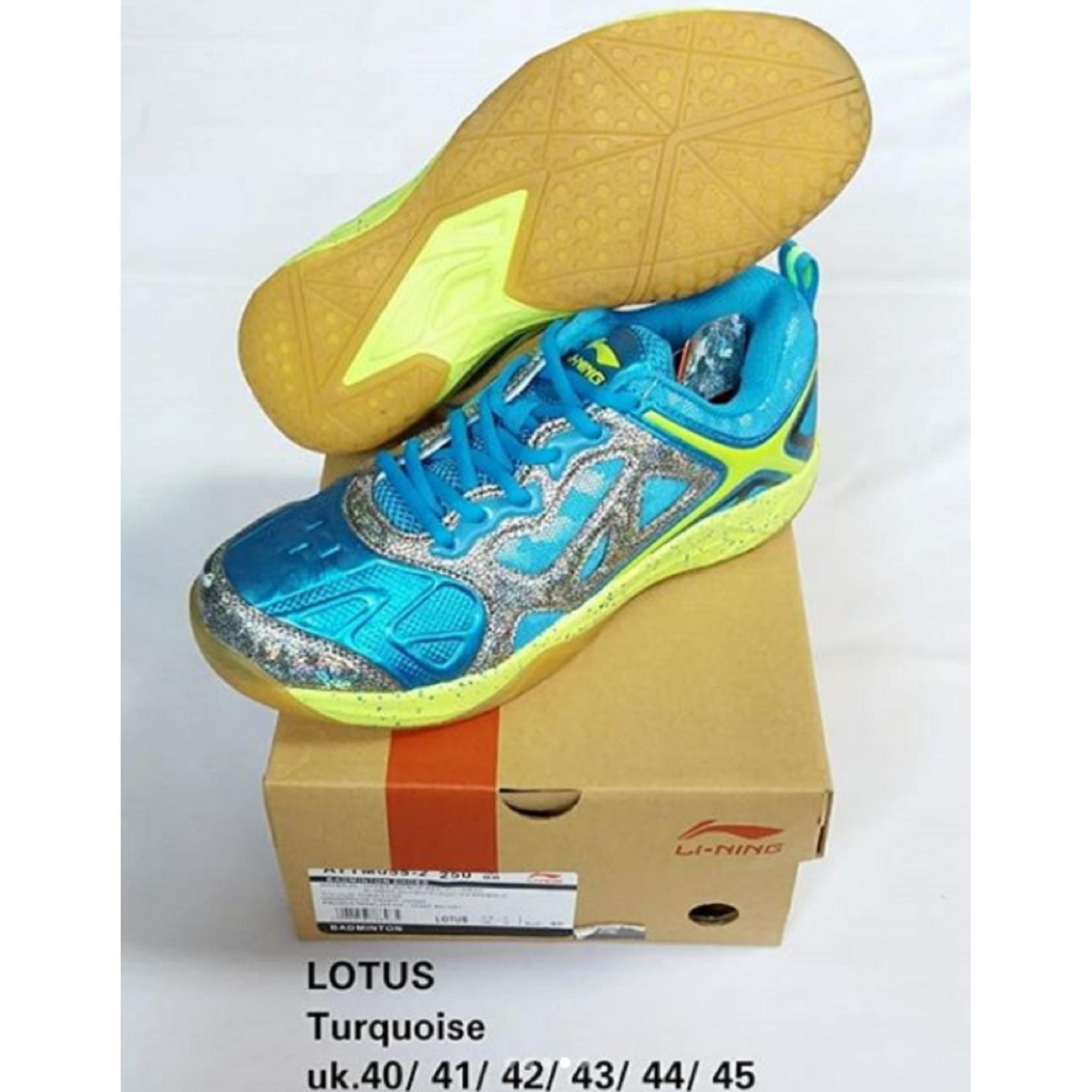 Sepatu Lining LOTUS AYTM055 BADMINTON SHOES MURAH DISKON OBRAL SALE JUAL PERLENGKAPAN BULUTANGKIS ADHA SPORT