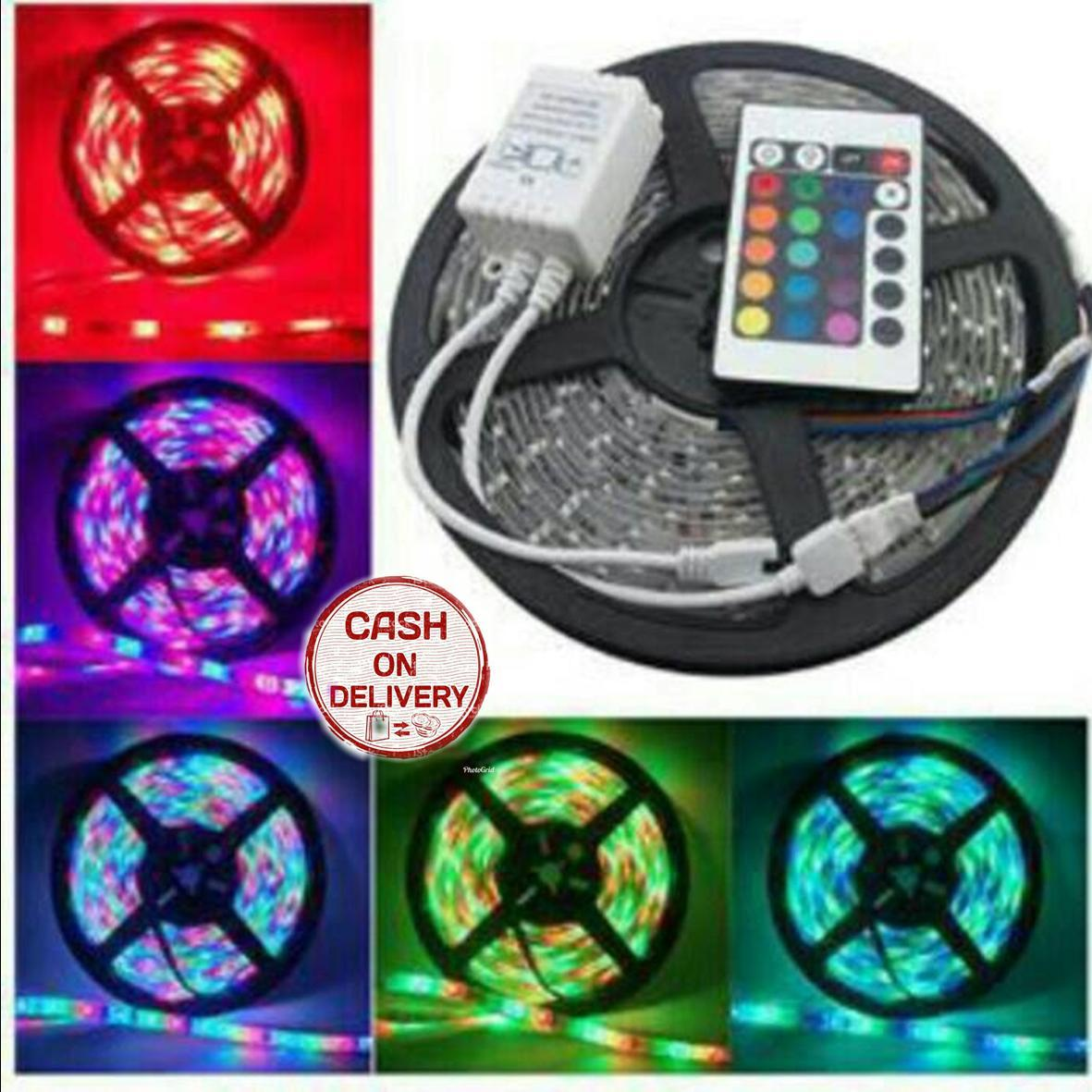 Daftar Harga Lampu Warna Warni Termurah 2018 Cekharga Disco Sorot Panggung 54 Parled Sien Collection Led Strip Lamp Rgb 3528 300 Remote Hias Dekorasi Interior Portable