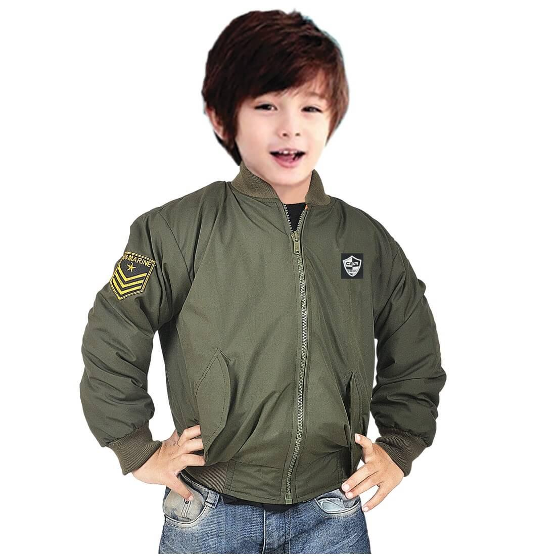 Jaket Bomber Anak Laki Army CBR6 MAC565