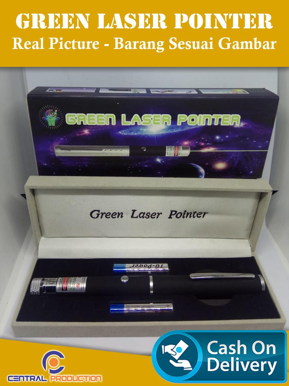 The Cheapest Price Green Laser Pointer Hijau 303 Senter Recharge 10km 1 Mata Terjauh 2 Pcs Baterai Aaa Real Picture