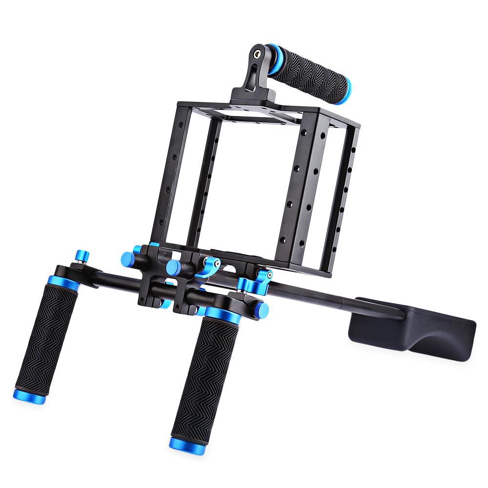 Specilize Aluminium Aloi Tempat Video Kamera Bahu Rig Perlengkapan untuk Canon 5D Ⅱ