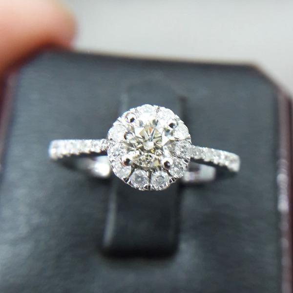 Cincin Wanita Berlian Eropa Mata 0,33 Carat 0547 Ring Emas