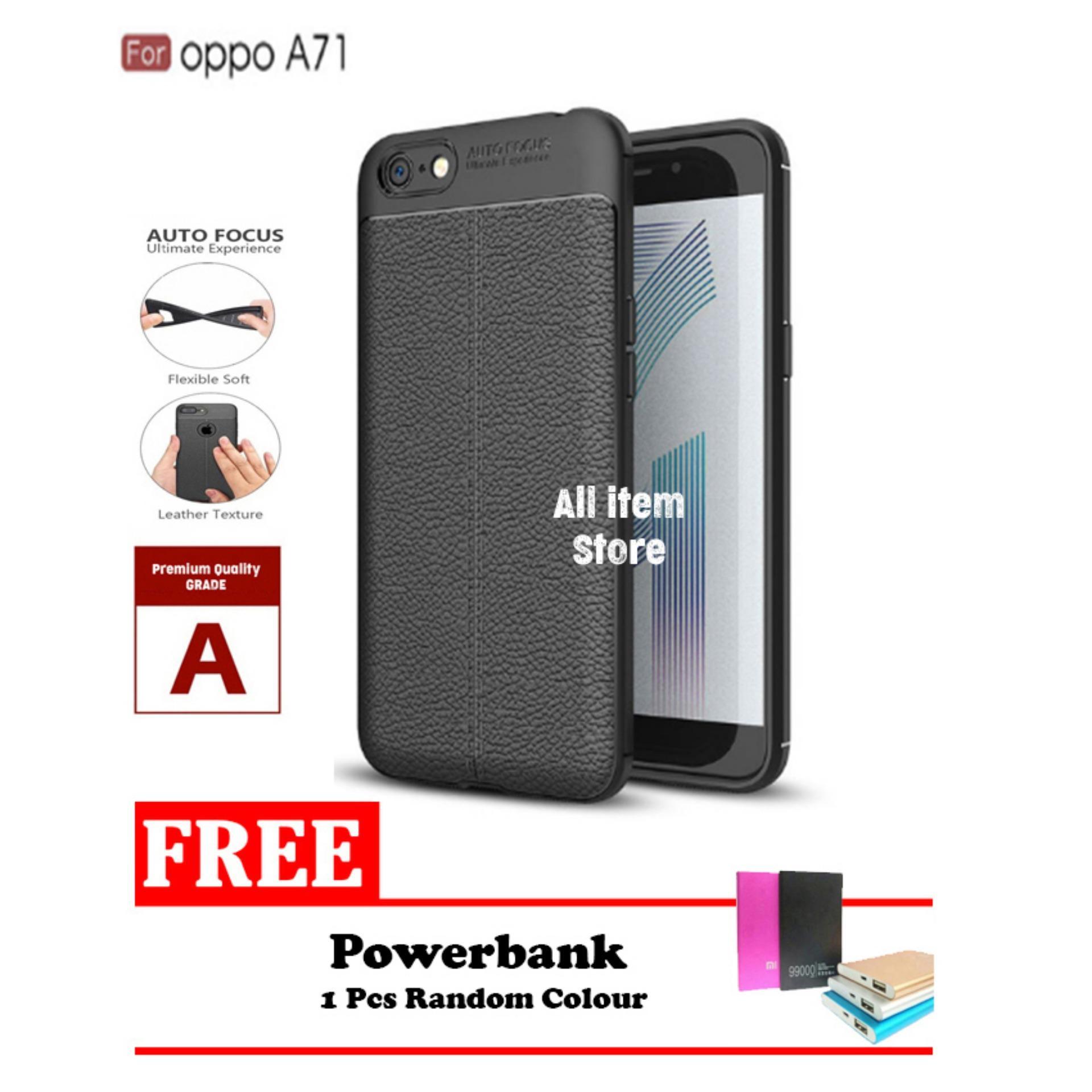Case Auto Focus For Oppo A71 Black Matte Autofocus - Hitam + Free Powerbank