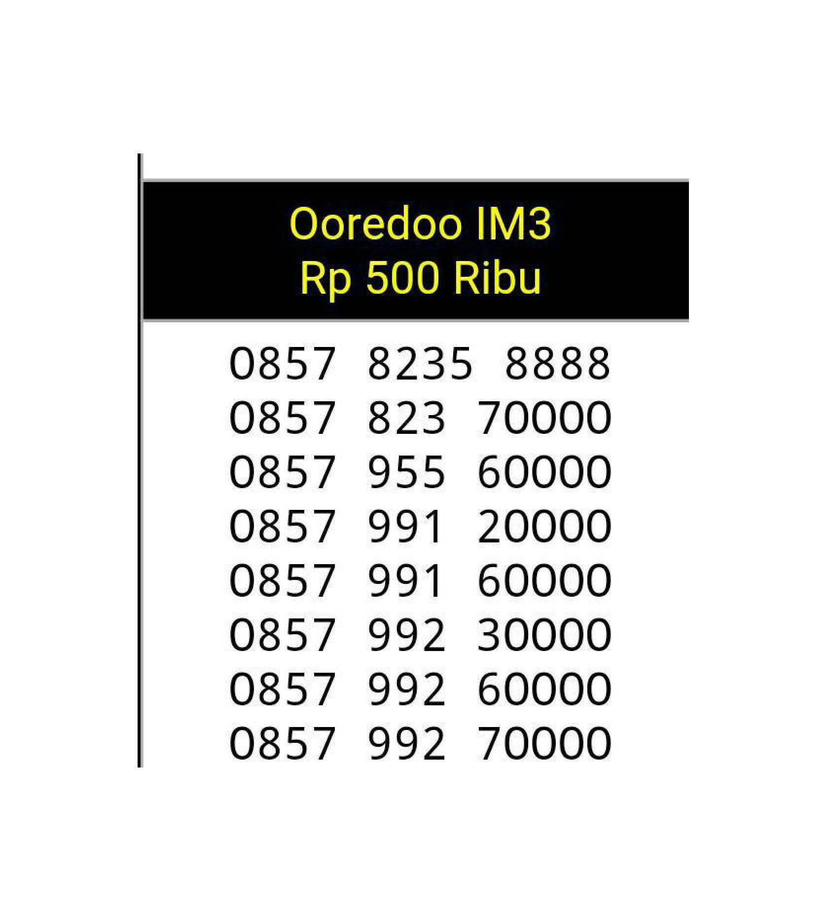 Nomor Cantik kartu im3-indosat seri kuartet-KW 0000-8888 super hoki YB