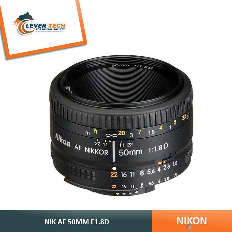 Nikon AF 50mm f/1.8D Nikkor Lens - Hitam