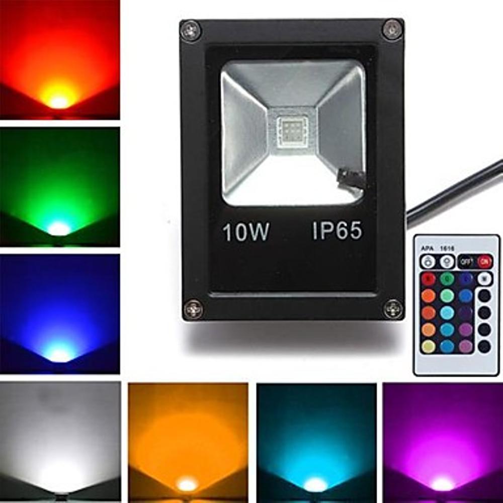 Lampu LED SOROT 10W Flood Light Lampu tembak RGB warna warni 10 watt