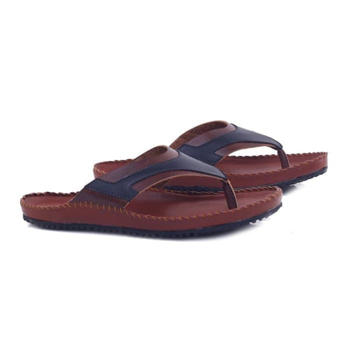Sandal laki-laki/sandal pria Sendal Jepit Casual Santai Main Keren keluaran terbaru model terbaru kualitas bagus harga murah warna coklat
