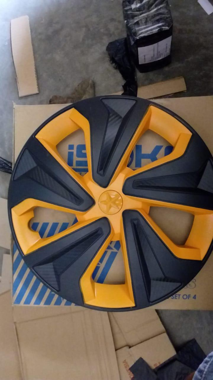 Cover Velg Dop Motif Racing Warna Hitam Gold