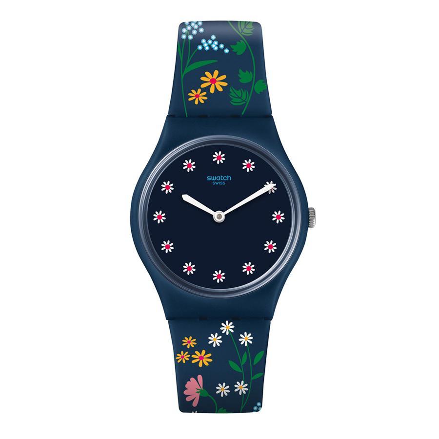 Swatch - Jam Tangan Wanita - Biru-Biru - Rubber Biru - GN256 Flower Carpet 7ac5bcb497