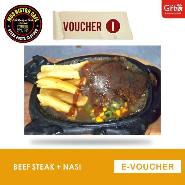 Mbs Bistro Beef Steak+ Nasi By Giftn.