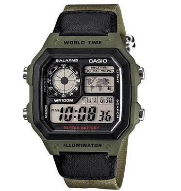 Jam tangan Casio AE 1200 WHB / AE-1200 WHB pria/cowok original