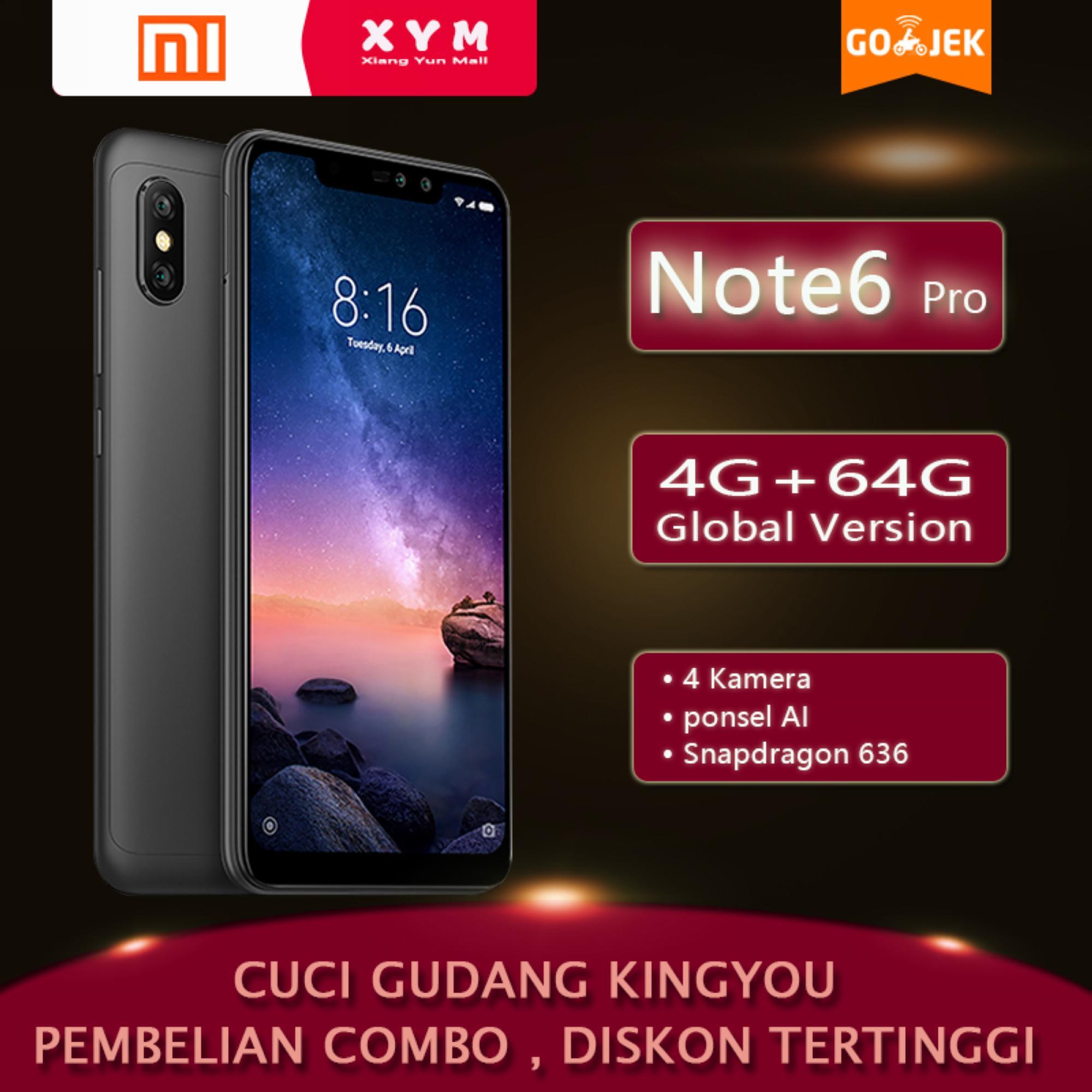 Xiaomi Redmi Note 6 pro - 4G/64G Edisi global Snapdragon 636 ponsel AI