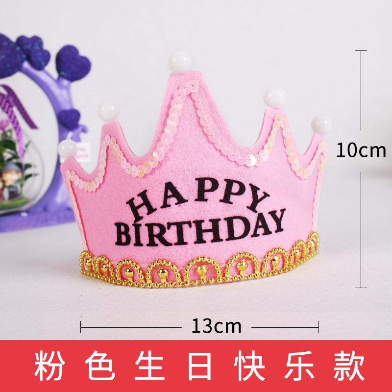 Crown Topi Ulang Tahun Anak-anak Tahun Topi Pesta Asesoris Kepala Dewasa
