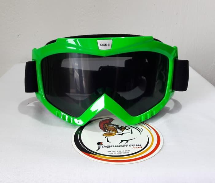 Kacamata Goggle Osbe | Smoke Green | Google Cross Trail - ready stock