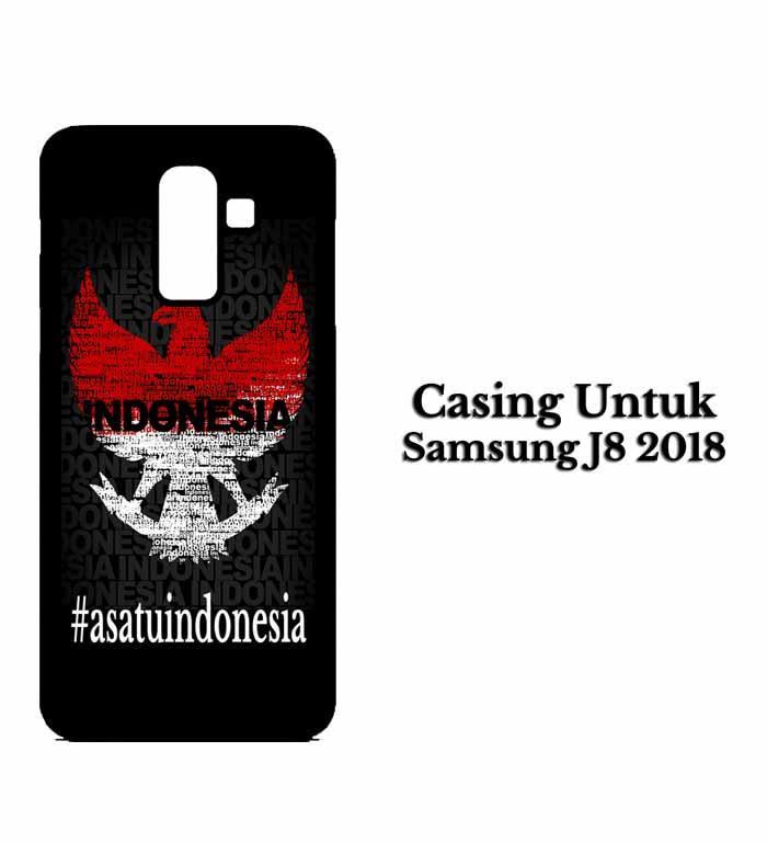 Casing SAMSUNG J8 2018 Garuda satu indonesia Hardcase Custom Case Snitchshop