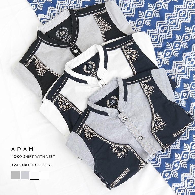 Cotton Inch Kid - Adam | Baju Koko Anak | Atasan Anak 1-3 Tahun