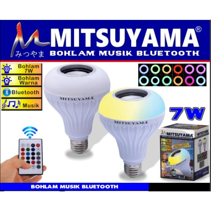 Bohlam Musik Speaker Bluetooth / Blutut Mitsuyama MS-0707
