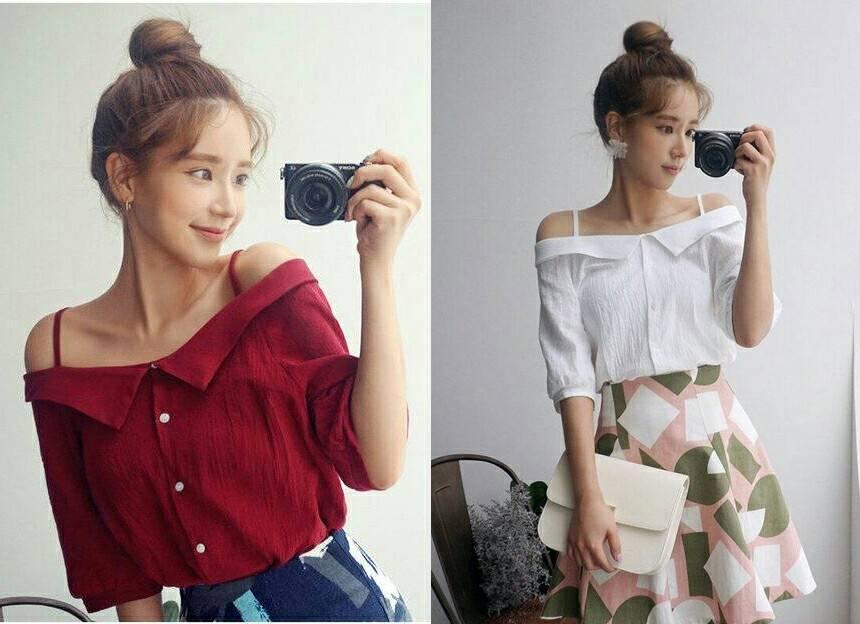 GKS Fashion Blouse Wanita Sabrina Varian 2 Warna / Blouse Sabrina / Baju Wanita / Blouse