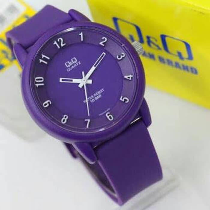 Jam tangan ungu Q&Q cewe VR52 QQ VR-52 ANTI AIR ORI bisa dipakai renan