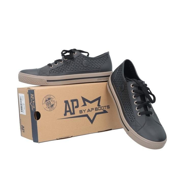 Sepatu APstar AP Star Sepatu Pria Wanita PVC bkn Converse Nike Coklat - Cokelat Muda, 40