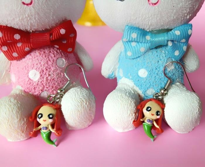 Anting Mermaid Boneka Barbie Giwang Anak Wanita Murah Ori Dior Korea - Cetp2S