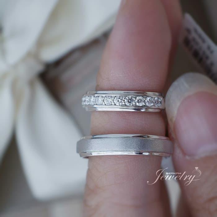 Wedding Ring | Cincin BERLIAN Natural Diamond Gold & Palladium