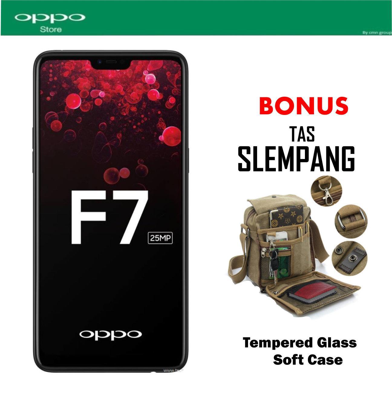 Oppo F7 Pro 6/128 GB - Black Plus Tas Slempang