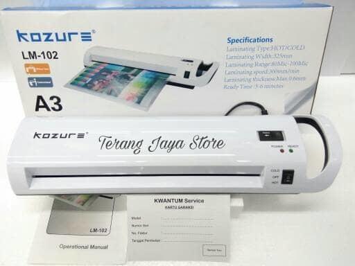 Promo Mesin Laminating Kozure Portable A3 LM 102 Original