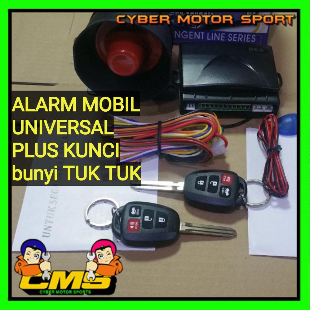 Alarm mobil universal remot plus kunci. Alarm mobil tuk tuk