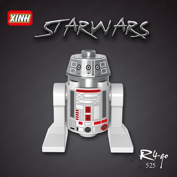 Promo Terbatas!! R4-G0 Xh525 Droid Star Wars Robot Minifigure R2D2 Lego Kw Xinh - ready stock