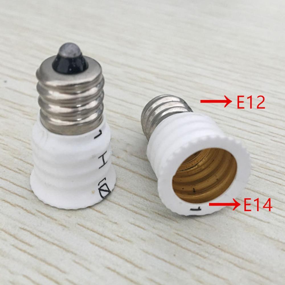 LumiParty High Quality E12 To E14 Converter Lamp Holder LED Light Bulb Base