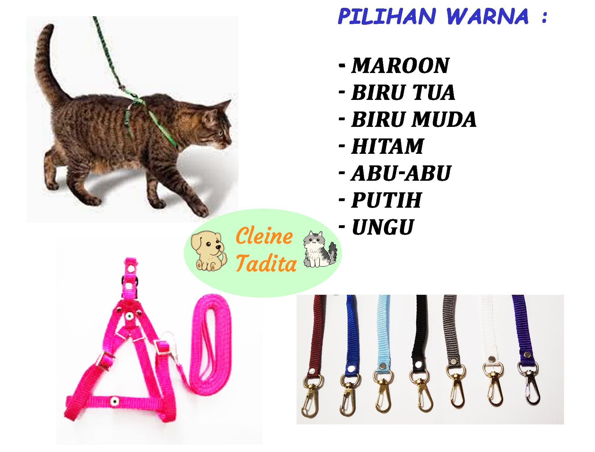 Cleine Tadita Petshop - Tali Tuntun + Harnes Kucing dan Anjing