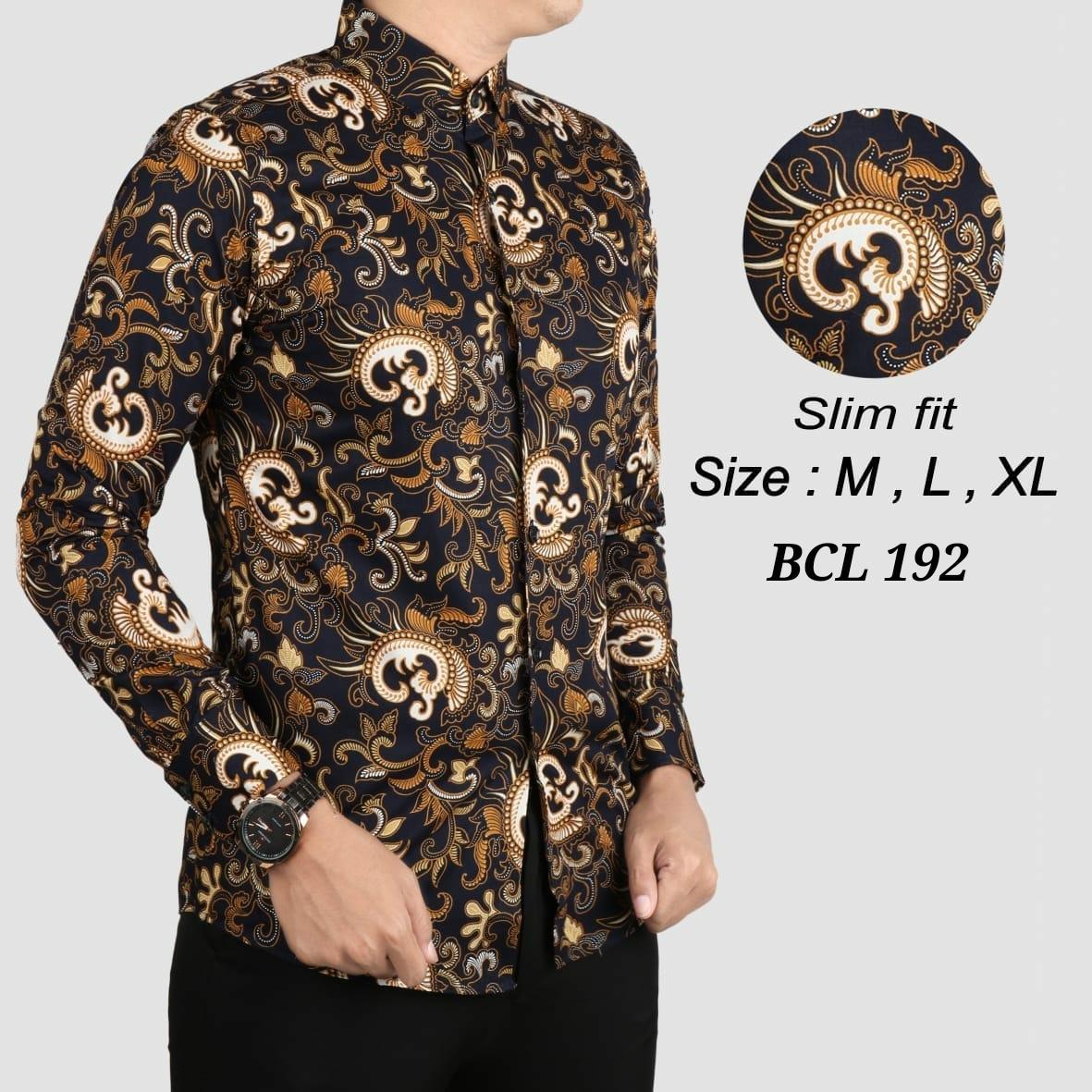 Baju Kemeja Batik Slimfit Pria / Model Batik Terbaru / Atasan Batik Pria / Hem Batik