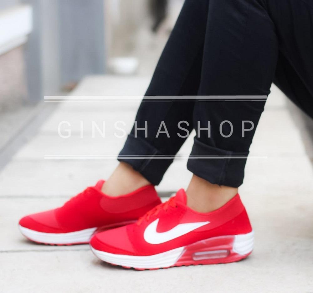 Ginshashop – Sepatu Wanita Sepatu Kets   Sneakers Air Max GFS – 661 Merah  Sepatu Olahraga   Sepatu Sport   Sepatu Sekolah f6c2807e83