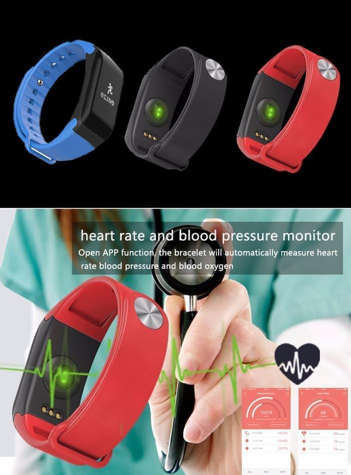 Promo Terbatas!! Smart Watch Sport Waterproof Tensi Meter Oxigen Darah Denyut Jantung - Biru - ready stock