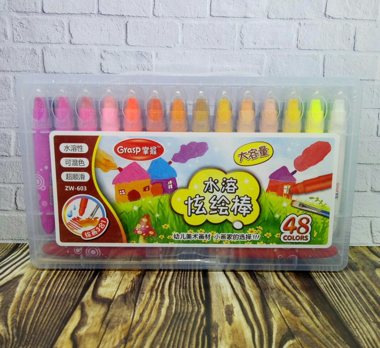 Crayon 48 Warna Grasp By Atk Jaya Store.