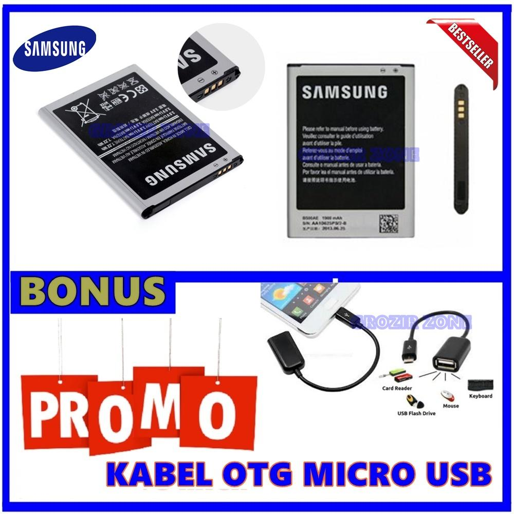 Samsung Baterai / Battery Original Galaxy S4 Mini / i9190 - Kapasitas 1900mAh + Gratis Kabel Otg Micro Usb ( Grozir Zone )