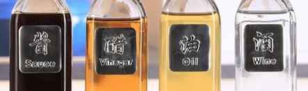 Dapur bebas timbal Anti Bocor Saus ukuran besar/L Kaca botol minyak dan cuka botol bumbu teko Pengontrol Minyak botol minyak wijen kreatif Tertutup Rapat botol minyak Teko teh