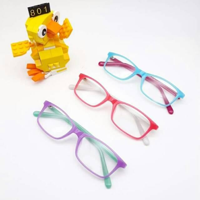 Frame Kacamata Anak Kode 801 Optical | Gratis Lensa Minus Variasi GREY ORANGE+LENSA