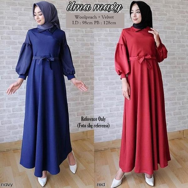 Promo Hari Ini Baju Gamis Terbaru 2017 Ilma Maxi Dress Modern Baju Muslim Wanita Untuk Lebaran