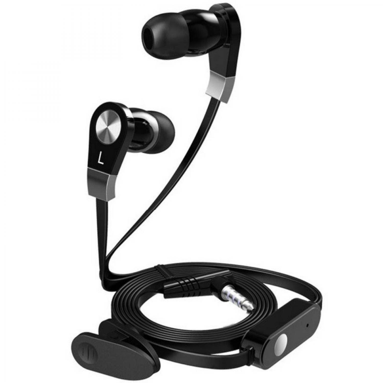 Langsdom Millet Super Bass Earphone dengan Mic JM02 3.5 mm Connector Mendengarkan Musik Lagu MP3 Music