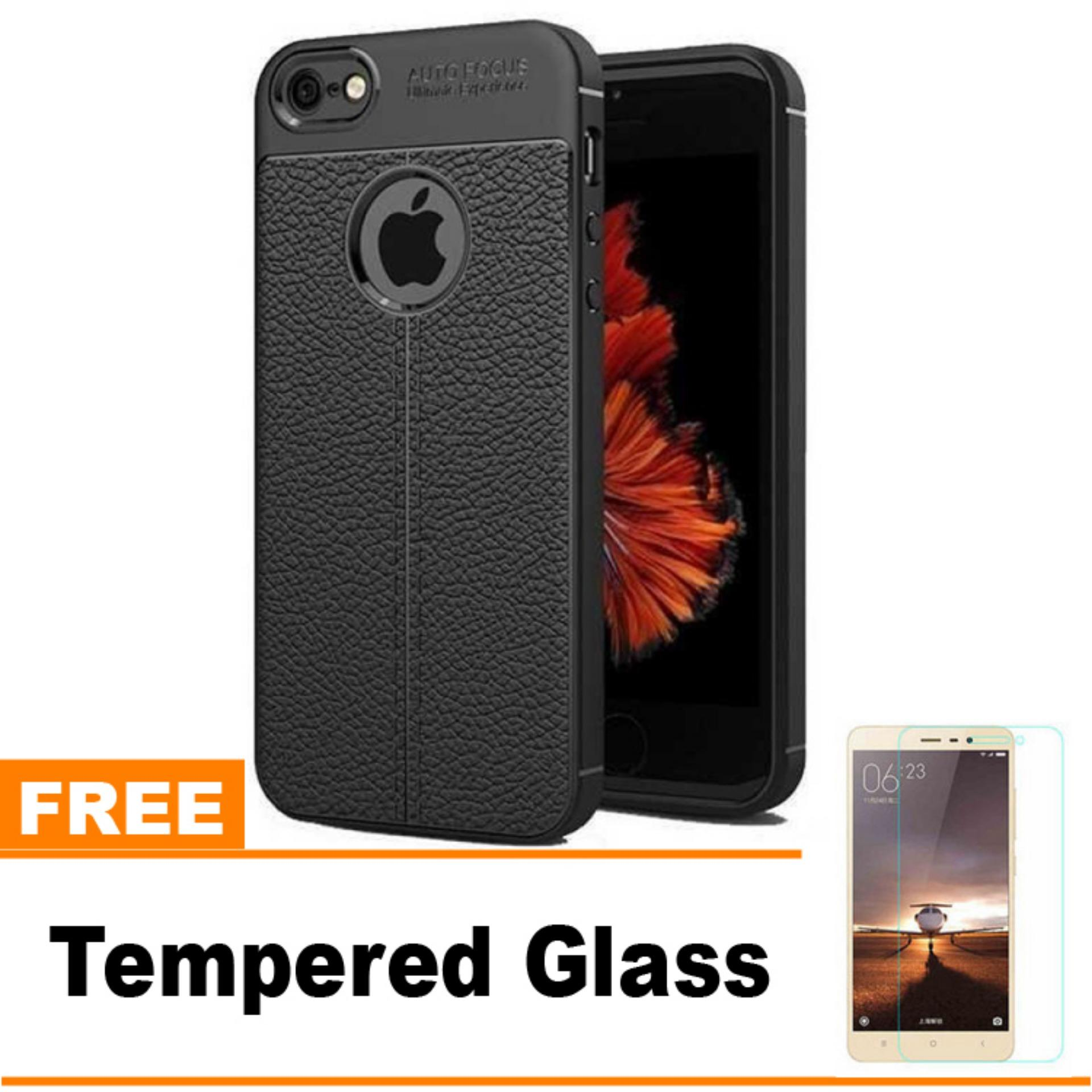 Original Lazada Case Auto Focus For Apple Iphone 5 / 5s - Hitam - Hadiah Tempered Glass