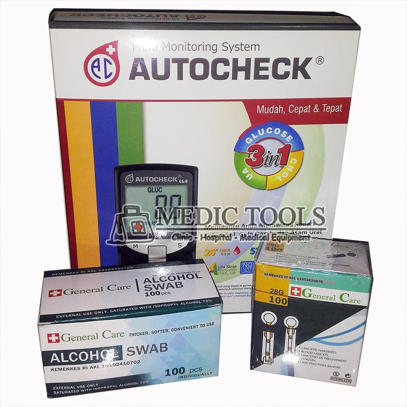 Autocheck Stater Pack ( Autocheck GCU + alkohol swab+ Lancet)