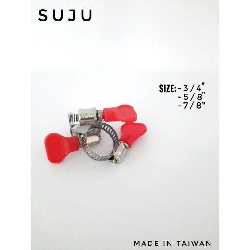 Klem Selang Gas Elpiji stainless/ Hose clam asli taiwan