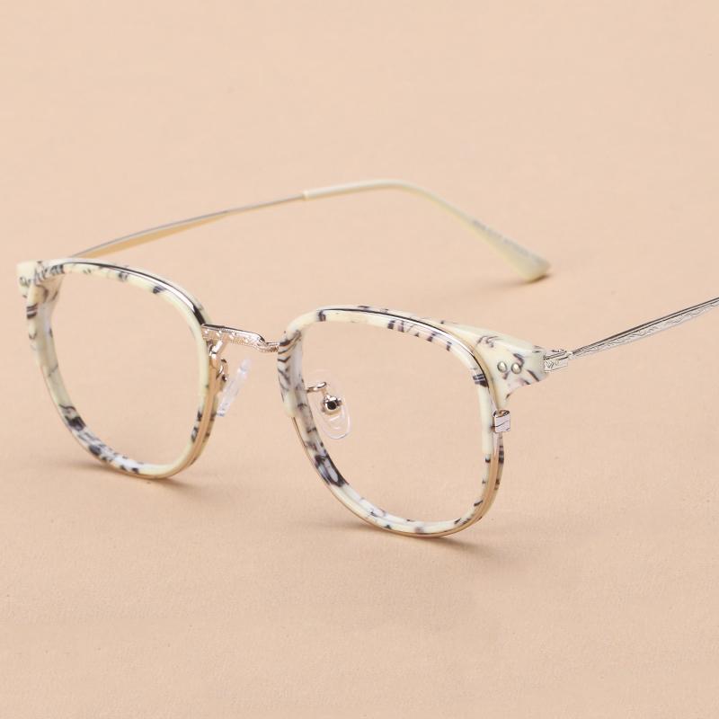 Hitam bingkai kacamata wanita rabun dekat Gaya Korea pasang Retro minimalis  wajah bulat Tanpa Lensa Kotak 4c113771e1