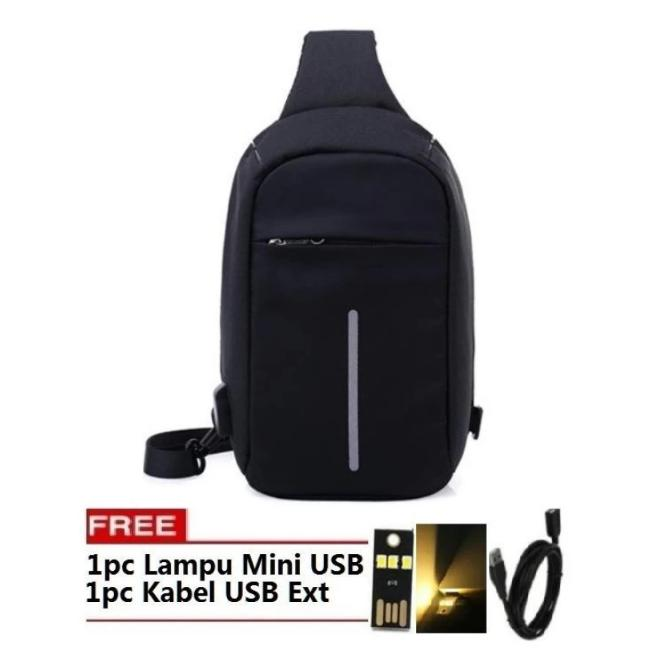 Tas Punggung Model XD 02 Ransel Backpack Anti Theft / Maling Laptop Bag Waterproof  FREE LAMPU MINI USB + KABEL