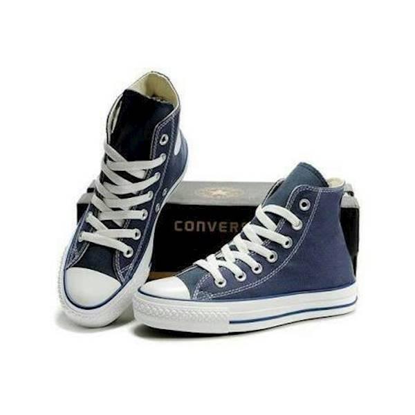 Sepatu Converse Converce High Basic Navy / Biru / Blue Original - Dkqyie
